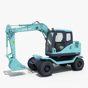 3d excavator model