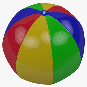 3d inflatable pool ball model