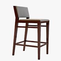 Caron Wooden Bar Chair
