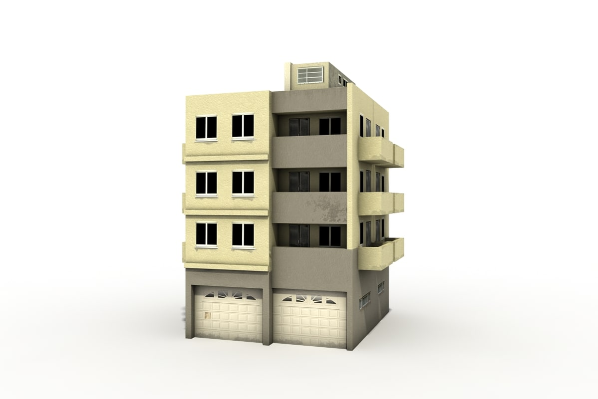 residential modern house 3d model