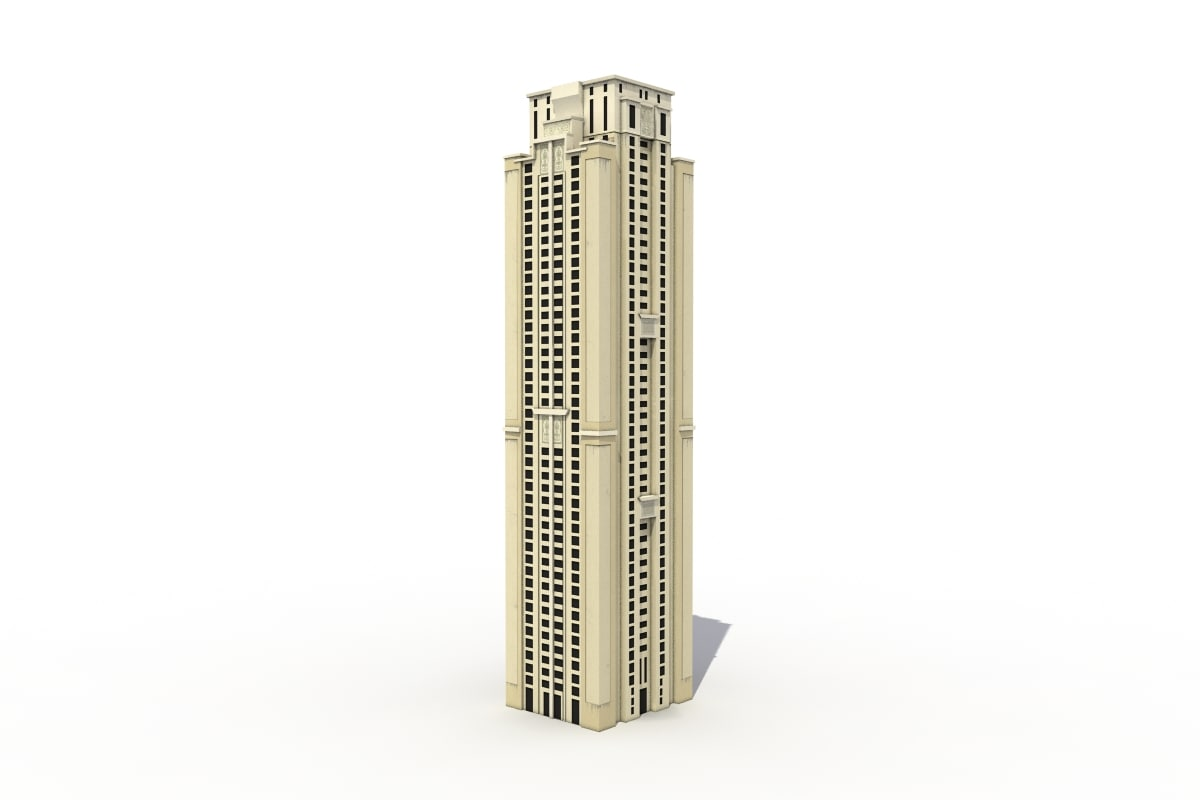 3d model tall apartments