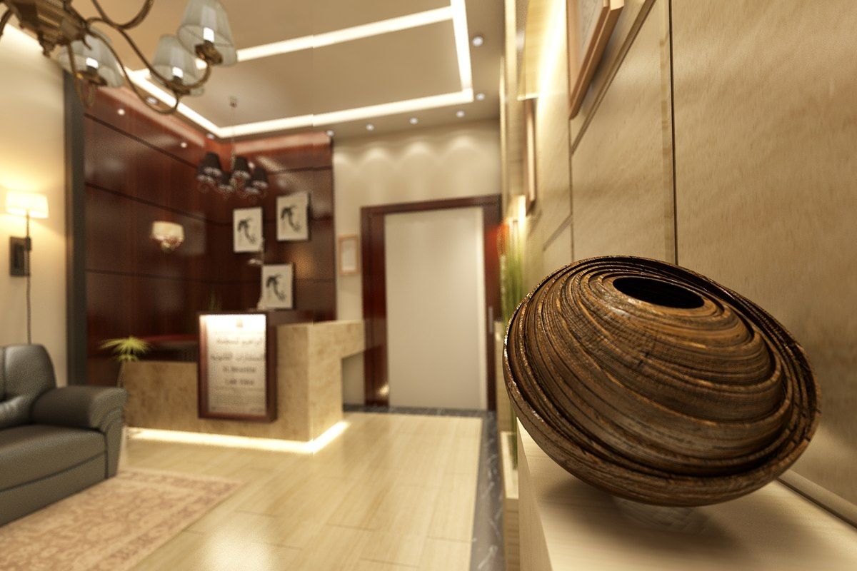 interior office entrance and reception