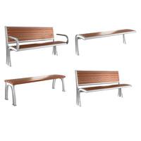 3ds max bench modern