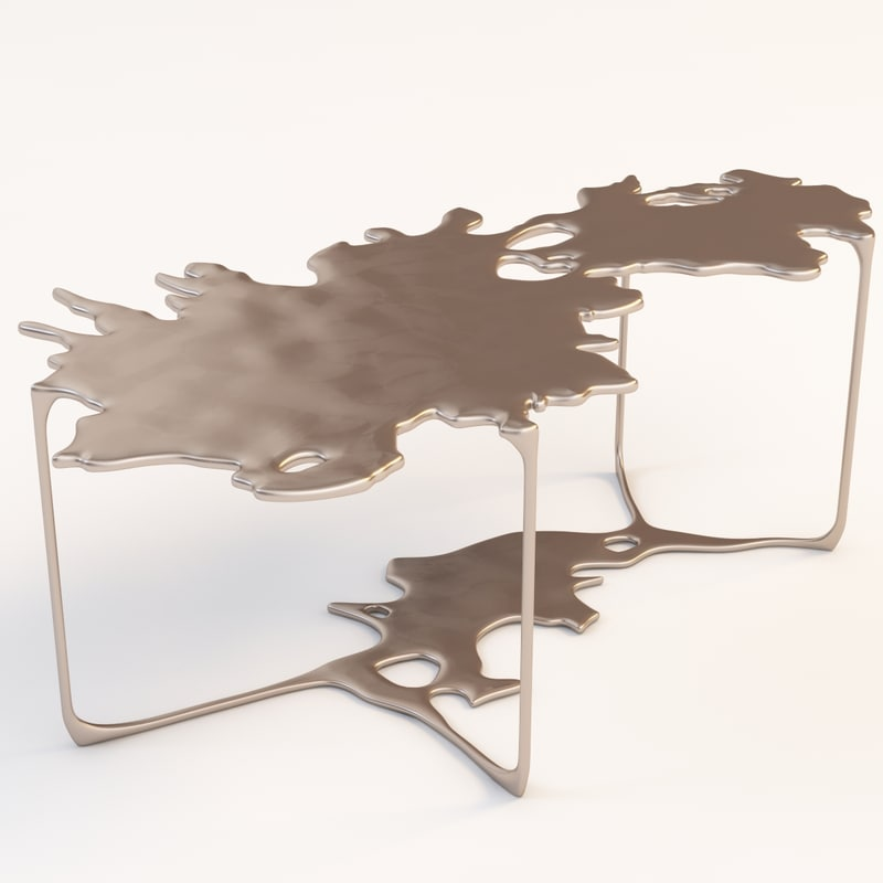 3d bronze puddle cocktail model