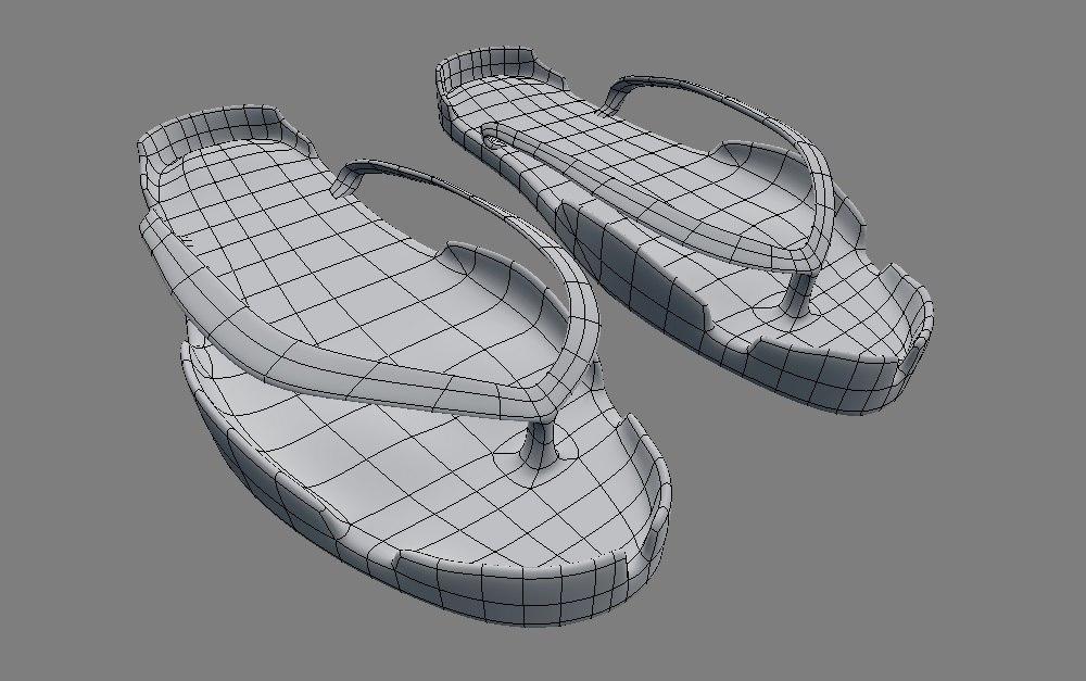 filipino slippers 3d model