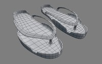 filipino slippers 3d model