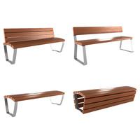 bench modern 3d 3ds