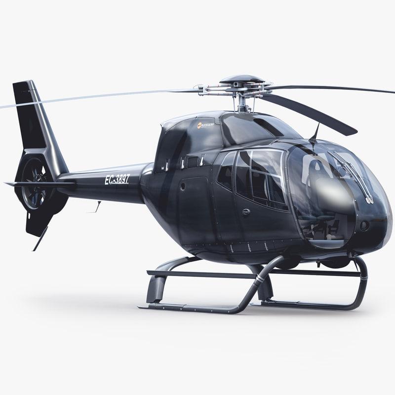 3d eurocopter ec 120 black model