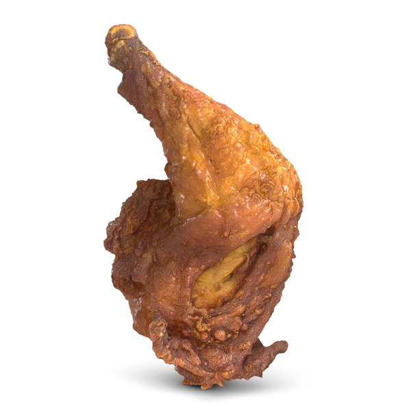 3d model crispy chicken leg