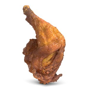 3d model crispy chicken leg