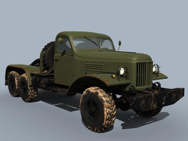 zil-157 truck tractor 3d model