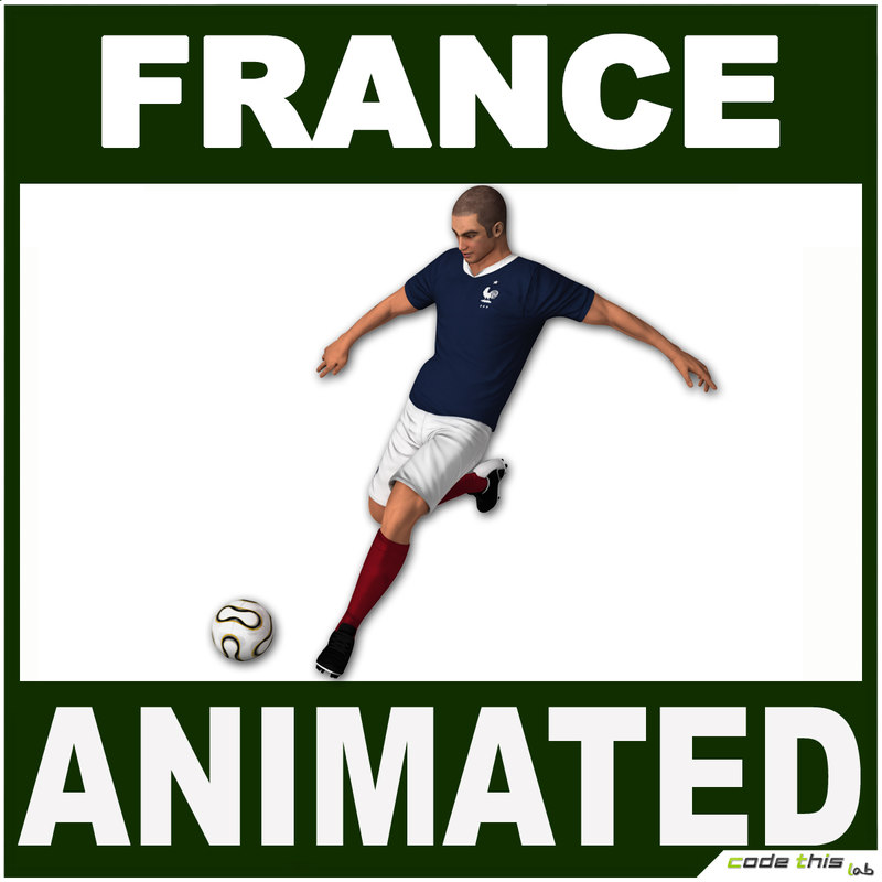 3d france jersey ball model