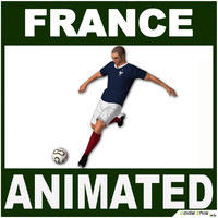 White Soccer Player France CG