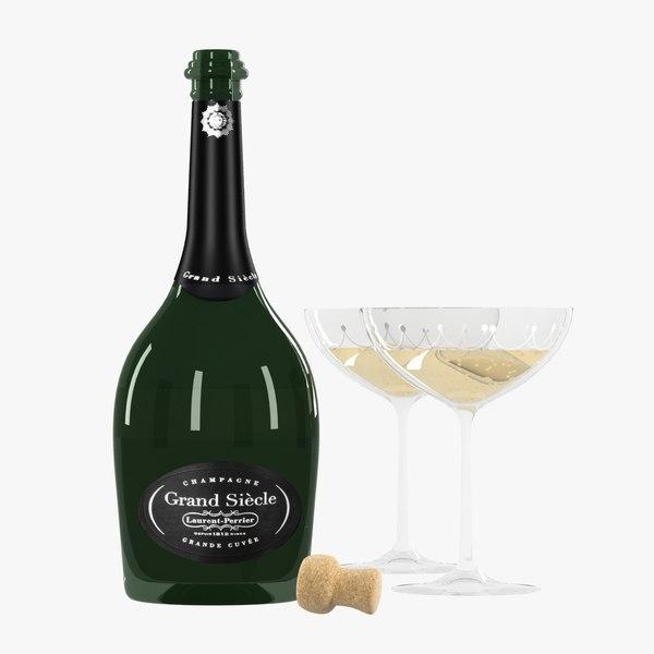 max botle glasses grand champagne