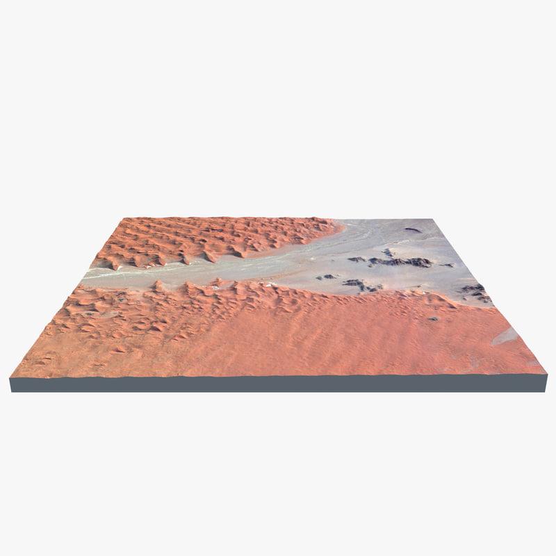 3d model dunes namibian