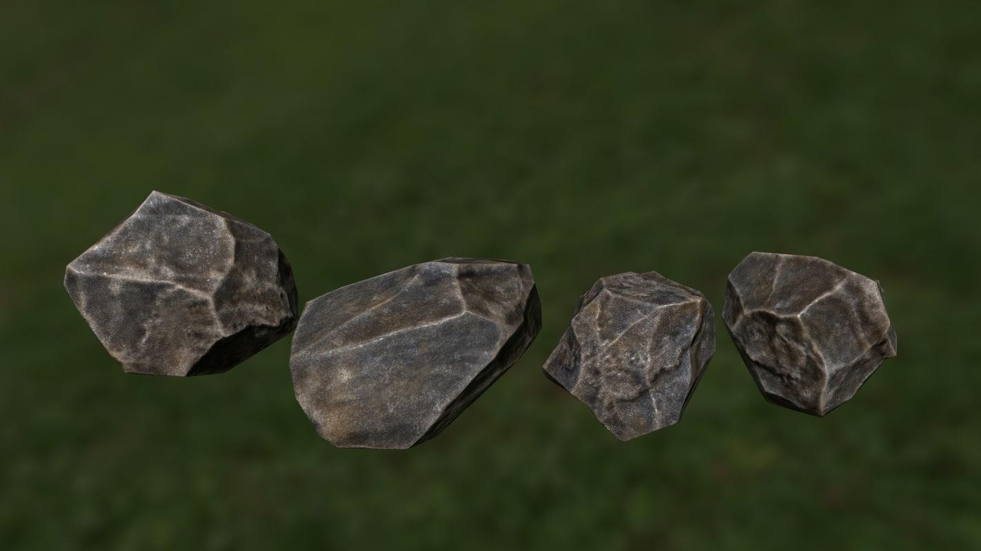 free 3ds model rock