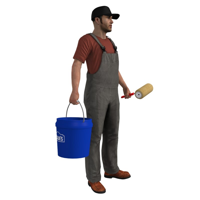 max rigged paint worker man