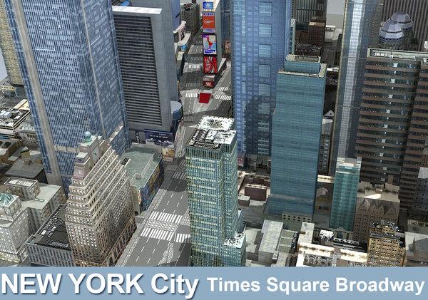 new york city square 3d max
