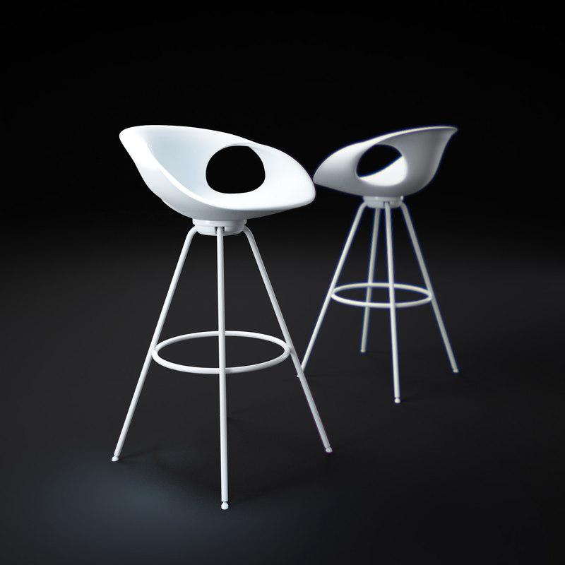 up-chair-stool 3d obj