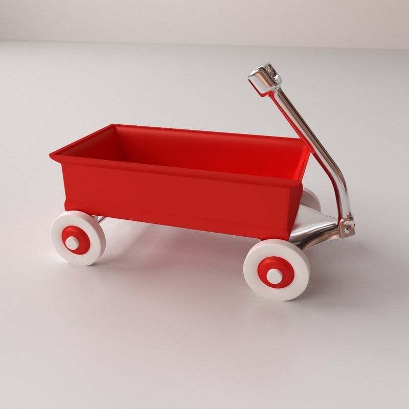 3ds max red wagon