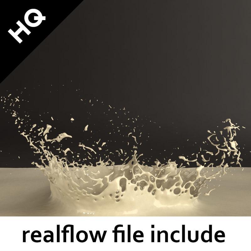 3d obj splash realflow flow