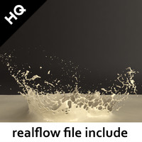 3d obj splash realflow flow