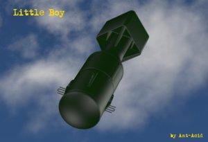 free obj model bomb little boy