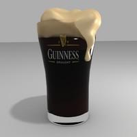 beer foam 3d model