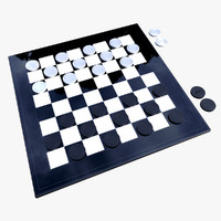 3d checker piece model