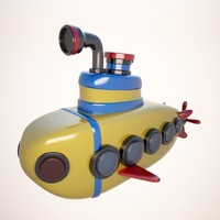 cartoon submarine toon 3d max