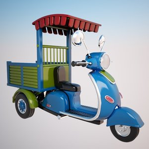 cartoon motorcycle cycle 3d model