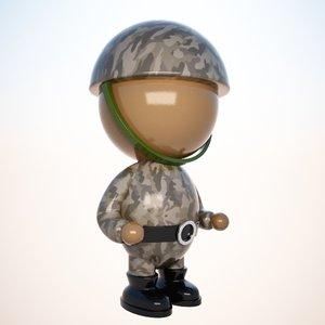 soldier character cartoon max