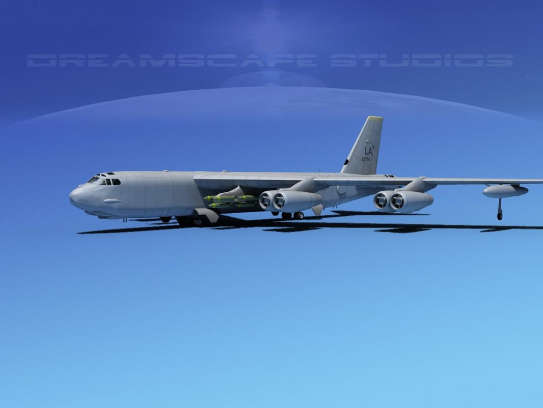 boeing b-52 stratofortress bomber 3d model