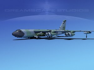 boeing b-52 stratofortress bomber 3d max