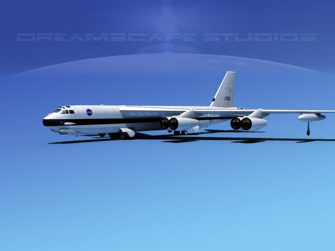 boeing b-52 stratofortress bomber 3ds