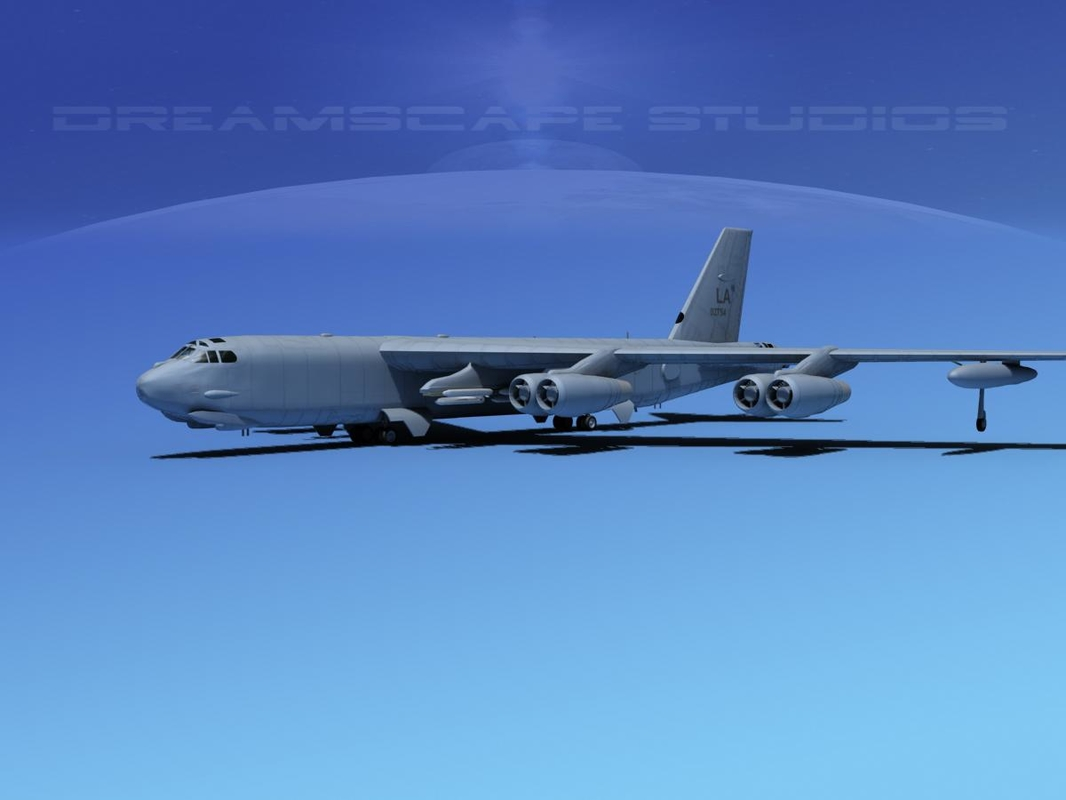 3d boeing b-52 stratofortress bomber model