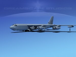 3d boeing b-52 stratofortress bomber model
