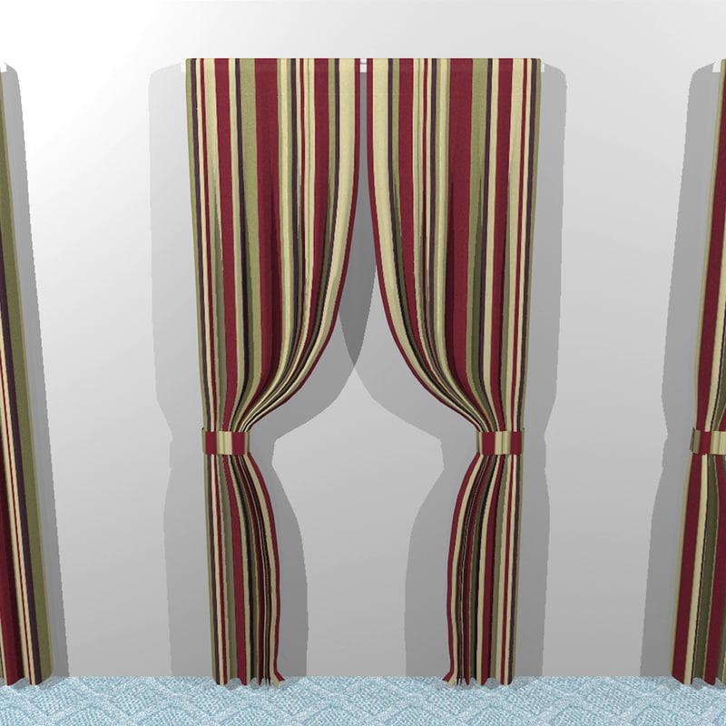 curtains cloth 3d model