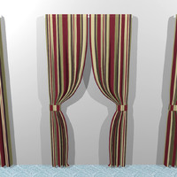 curtains cloth 3d model