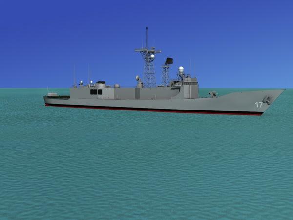 frigates australian navy 3d model