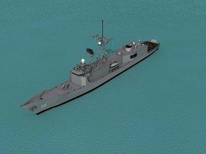 frigates class 3d obj
