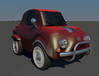 funny car 3d model