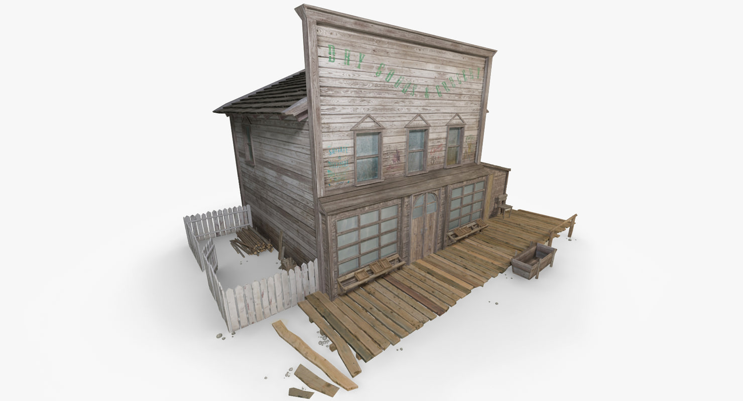 3d model of wild west house 1