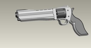 pro pistol 3d model