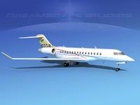 3d model global express bombardier 8000