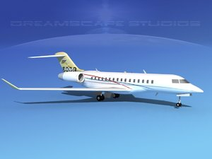 3d model global express bombardier 8000