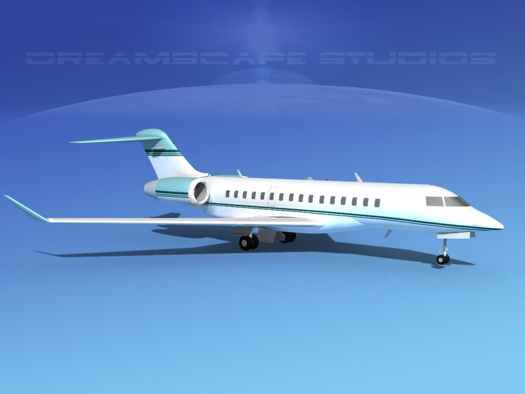 global express bombardier 8000 3d 3ds