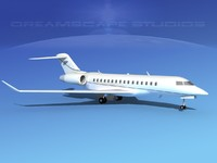 3d 3ds global express bombardier 8000