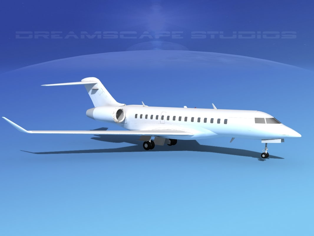 global express bombardier 8000 3ds