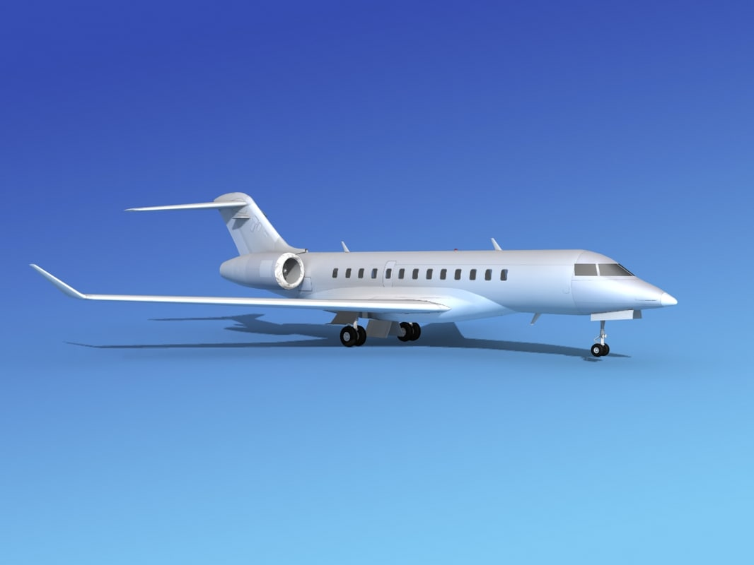 3d 3ds turbines bombardier global express